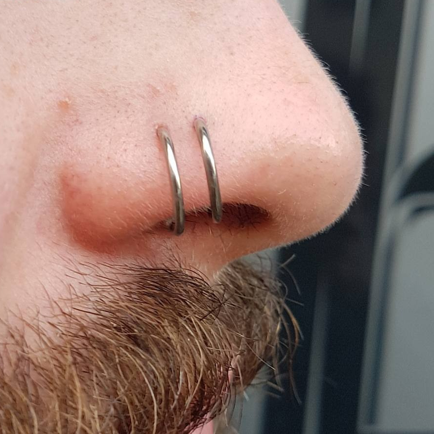 COVID Update - A fresh Nose piercing featuring nose rings